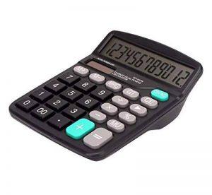 Cute Calculator Calculatrice solaire simple élégante, noire de la marque Black-Temptation image 0 produit
