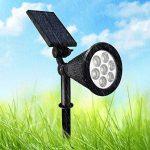 Cutogain 7LED Lampe Solaire Vidéoprojecteur Changement de Couleur sans Fil étanche Lumière Réglable Spot pour Jardin de la marque Cutogain image 3 produit