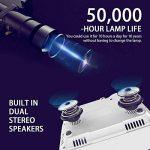 """DBPOWER Mini Projecteur, Projecteur vidéo LED HD 1080P +70% plus lumineux avec un écran de 176 """", durée de vie de 50 000 heures, projecteur de cinéma maison Compatible avec le stick Amazon Fire TV de la marque DBPower® image 1 produit"""