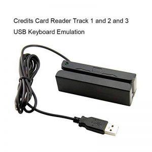 Deftun MSR90Terminal USB Simple Mini Portable 3Pistes magnétiques Lecteur de Cartes de crédit Magstripe Scanner Swiper pour système de Point de Vente de la marque Deftun image 0 produit