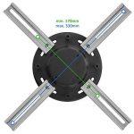 deleyCON Vidéoprojecteur plafond universel/+ 15° Inclinaison–360° pivotant Bar–jusqu'à 20kg–écart plafond seulement 62mm–variable–Noir de la marque deleyCON image 3 produit
