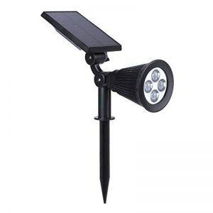 Demiawaking 4LED haute luminosité Sol Plat alimentation solaire Home Yard Vidéoprojecteur lumière de la marque Demiawaking image 0 produit