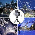 Diadia Snowfall Lumières LED de Noël Vidéoprojecteur Lumières étanche Sparkling Blanc Neige Décoration d'éclairage avec Télécommande sans Fil pour Mariage Vacances Fête Nouvel an de la marque Diadia Bulb image 1 produit