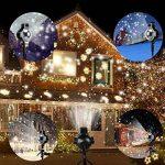 Diadia Snowfall Lumières LED de Noël Vidéoprojecteur Lumières étanche Sparkling Blanc Neige Décoration d'éclairage avec Télécommande sans Fil pour Mariage Vacances Fête Nouvel an de la marque Diadia Bulb image 3 produit