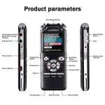 dictaphone enregistreur vocal voix Audio Recorder 16Go Double Réduction du bruit numérique intelligent Design mémoire MP3avec écran coloré Noir de la marque AMRNCY image 1 produit
