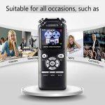 dictaphone enregistreur vocal voix Audio Recorder 16Go Double Réduction du bruit numérique intelligent Design mémoire MP3avec écran coloré Noir de la marque AMRNCY image 2 produit