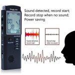 Dictaphone Numérique, AngLink 8Go Enregistreur Vocal Portable,Activation Vocale, Connexion PC, Rechargeable et Lecteur Mp3 avec MICRO stereo de la marque image 2 produit