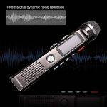 Dictaphone Numérique Portable KINGTOP 8Go Enregistreur Vocal Rechargeable Grand Microphone Radio FM Lecteur Mp3 avec un Support, Argenté, Garantie de 2 Ans de la marque KINGTOP image 1 produit