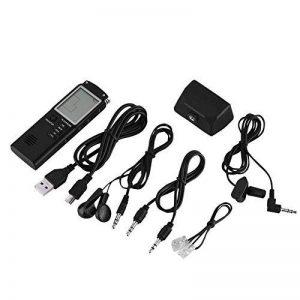 Dictaphone Numérique, 8GB / 16GB Dictaphone Enregistreur Vocal Intelligent Dictaphone Vocal Multifonctionnel de HD avec Double Micro Enregistreur Audio Vocal Numérique pour des Conférences, Réunions, (8G) de la marque VBESTLIFE image 0 produit
