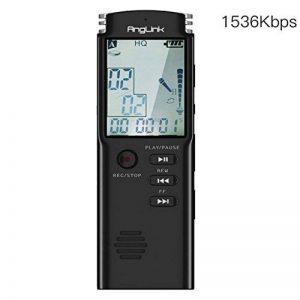 Dictaphone Numérique, AngLink 8Go Enregistreur Vocal Portable,Activation Vocale, Connexion PC, Rechargeable et Lecteur Mp3 avec MICRO stereo de la marque AngLink image 0 produit