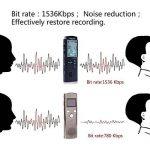 Dictaphone Numérique, AngLink 8Go Enregistreur Vocal Portable,Activation Vocale, Connexion PC, Rechargeable et Lecteur Mp3 avec MICRO stereo de la marque image 1 produit