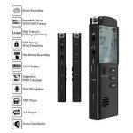 Dictaphone Numérique, AngLink 8Go Enregistreur Vocal Portable,Activation Vocale, Connexion PC, Rechargeable et Lecteur Mp3 avec MICRO stereo de la marque image 3 produit