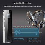 Dictaphone numérique, KAYOWINE 15 m enregistrement Distance 1536 Kbps 8 Go avec carte TF Expansion Prise Interface Enregistreur reconnaissance vocale Haut-parleur de la marque KAYOWINE image 2 produit