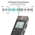 Dictaphone Numérique, M.way 1536Kbps 8GB Enregistreur Vocal Numérique, Durée d'Enregistrement 72h de HD Voice Recorder avec Micro/LCD Écran/Lecteur MP3/Réduction de Bruit de la Batterie 600mah pour Réunion, Classes, Enregistrement Personnel,Concerts, etc image 2 produit