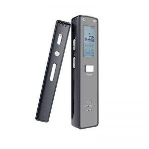 Dictaphone numérique, Miuko 1536Kbps 8GB Dictaphone (avec support pour carte mémoire TF), Enregistreur audio avec activation vocale automatique pour les conférences, réunions, lecteur MP3 de la marque Miuko image 0 produit