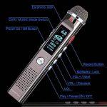 Dictaphone Numérique Portable KINGTOP 8Go Enregistreur Vocal Rechargeable Grand Microphone Radio FM Lecteur Mp3 avec un Support, Argenté, Garantie de 2 Ans de la marque KINGTOP image 4 produit