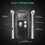 dictaphone numérique rechargeable usb TOP 10 image 2 produit