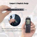 dictaphone numérique rechargeable usb TOP 9 image 4 produit