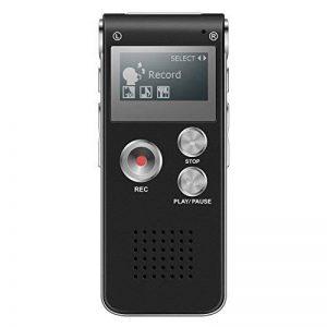 Dictaphone Numérique, TENSAFEE 8g Dictaphone Magnétophone, Portable Rechargeable HD avec double micro enregistreur audio enregistrement claire, lecteur mp3 / a - b répète / touche d'enregistrement, voix pour des Conférences / Réunions / Interviews / Confé image 0 produit
