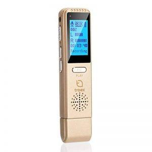 Dictaphone Numérique TROEX 8 Go - Mini USB Enregistreur Audio Vocal à Micro Stéréo HD pour Enregistrer Son, Music, Voix, Guitare et autres - Batterie Rechargeable Longue Durée - Compatible PC ou Mac, Lecteur MP3 de la marque TROEX image 0 produit