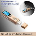 Dictaphone Numérique TROEX 8 Go - Mini USB Enregistreur Audio Vocal à Micro Stéréo HD pour Enregistrer Son, Music, Voix, Guitare et autres - Batterie Rechargeable Longue Durée - Compatible PC ou Mac, Lecteur MP3 de la marque TROEX image 1 produit