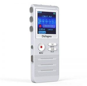 Dictopro X100 Dictaphone Numérique Enregistreur de Voix Stéréo Numérique, Activation Vocale, Portable, Rechargeable, pour la Lecteur, Cours, Conférence Entretien, MP3, Connexion PC, Mémoire 8GB de la marque DICTOPRO image 0 produit