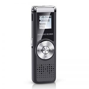 Digital Voice Recorder 16Go de mémoire voix appareil multifonctionnel dictaphone rechargeable USB Audio Portable d'activation du son d'enregistrement Micro pour conférences des Entretiens réunions avec lecteur MP3 de la marque Shnvir image 0 produit