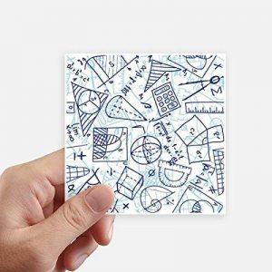 DIYthinker Math Peint en Bleu Main Règle Calculatrice Illustration Autocollant carré 10CM Mur Valise pour Ordinateur Portable Motobike Decal 8Pcs 10Cm X 10Cm Multicolor de la marque DIYthinker image 0 produit