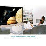 Docooler H150 150 '' écran de Projection Portable HD 16: 9 Blanc 150 Pouces Diagonale écran de Projection Pliable Home cinéma pour la Projection Murale à l'intérieur en Plein air de la marque Docooler image 3 produit