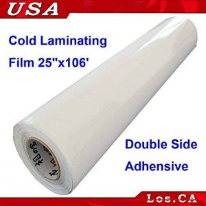 Double Face Adhensive sensibles à la pression Laminating support film 63,5 cm X106 'Roll de la marque Cold Laminating Machine/Films image 0 produit