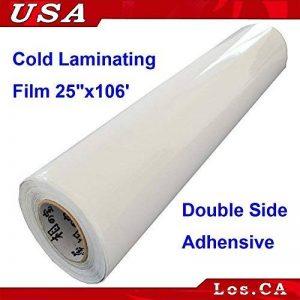 Double Face Adhensive sensibles à la pression Laminating support film 63,5cm X106'Roll de la marque Cold Laminating Machine/Films image 0 produit