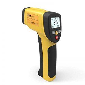 Dr.Meter IR-40 Thermomètre infrarouge Laser double, -50°C ~ 650 °C / -58º F ~ 1 202º F, La Pile 9V compris, Jaune de la marque Dr.meter image 0 produit