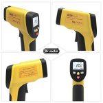 Dr.Meter IR-40 Thermomètre infrarouge Laser double, -50°C ~ 650 °C / -58º F ~ 1 202º F, La Pile 9V compris, Jaune de la marque Dr.meter image 2 produit