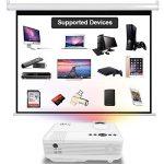 DR.Q Projecteur de 2400 Lumens, Vidéoprojecteur supportant 1080P, 50000 Heures, Compatible avec Fire TV Stick HDMI, VGA, USB, AV, Blanc. de la marque DR.Q image 2 produit