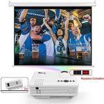 DR.Q Projecteur de 2400 Lumens, Vidéoprojecteur supportant 1080P, 50000 Heures, Compatible avec Fire TV Stick HDMI, VGA, USB, AV, Blanc. de la marque DR.Q image 4 produit