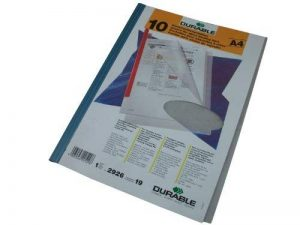 Durable 292619 Chemise Polypro pour Reliure Manuelle A4 Transparent Sachet de 10 de la marque Durable image 0 produit