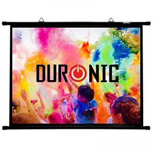 """Duronic BPS100 /43 Ecran de projection avec barres et crochets pour vidéoprojecteur – Toile de 100"""" ou 254 cm (203 x 152 cm) 4K Full HD 1080 3D Gain 1.0 - Idéal pour Home cinéma / Présentations / Environnement professionnel de la marque Duronic image 0 produit"""