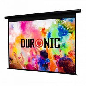 Duronic EPS92 /169 Ecran de projection électrique motorisé 92 pouces 16:9 / 203 x 114 cm - Fixation mur ou plafond - 4K Full HD 1080 3D Gain 1.0 - Idéal pour Home cinéma / Présentations / écoles / campus / PRO de la marque Duronic image 0 produit