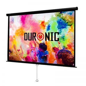 Duronic MPS100 /169 Ecran de projection à déroulement manuel 100 pouces 16:9/221 x 125 cm - Fixation mur ou plafond - 4K Full HD 1080P 3D Gain 1.0 - Idéal pour Home cinéma/Présentations / Bureau3D de la marque Duronic image 0 produit