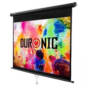 Duronic MPS80 /43 Ecran de projection à déroulement manuel 80 pouces 4:3/163 x 122 cm - Fixation mur ou plafond - 4K Full HD 1080P 3D Gain 1.0 - Idéal pour Home cinéma/Présentations / Bureau3D de la marque Duronic image 0 produit