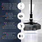 Duronic PB02XL Support vidéoprojecteur universel inclinable et rotatif - Bras extensible / télescopique - Installation murale ou plafond - Capacité 10 kg - Idéal pour home cinémas, jeux vidéos, présentations, conférences de la marque Duronic image 3 produit