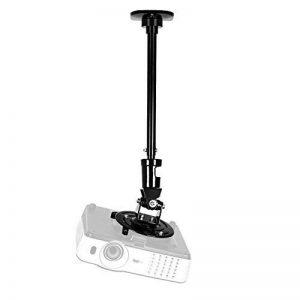 Duronic PB02XL Support vidéoprojecteur universel inclinable et rotatif - Bras extensible / télescopique - Installation murale ou plafond - Capacité 10 kg - Idéal pour home cinémas, jeux vidéos, présentations, conférences de la marque Duronic image 0 produit