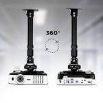Duronic PB04XL Support vidéoprojecteur universel Inclinable et Rotatif - Bras extensible / télescopique - Installation murale ou plafond - Capacité 13,6 kg - Idéal pour home cinémas, jeux vidéos, présentations, conférences de la marque Duronic image 4 produit