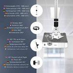 Duronic PB06XL Support vidéoprojecteur universel inclinable et rotatif - Bras extensible / télescopique - Capacité 13,6 kg - Installation plafond - Idéal pour home cinémas, jeux vidéos, présentations, conférences de la marque Duronic image 3 produit