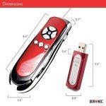 Duronic SP400 /RD Télécommande de présentation sans fil infrarouge 2.4 Ghz de couleur rouge avec pointeur laser et souris – Garanti 2 ans de la marque Duronic image 1 produit