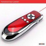 Duronic SP400 /RD Télécommande de présentation sans fil infrarouge 2.4 Ghz de couleur rouge avec pointeur laser et souris – Garanti 2 ans de la marque Duronic image 2 produit
