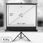 Duronic TPS86 /43 Ecran de projection sur trépied 86 pouces 4:3/175 x 131 cm - 4K Full HD 3D Gain 1.0 - Idéal pour Home cinéma/Présentations / Ecoles/Evènements / Conférences de la marque Duronic image 1 produit