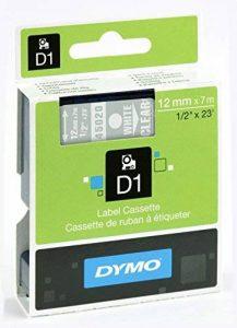 Dymo D1 Étiquettes Standard 12 mm x 7 m - Blanc sur Transparent de la marque DYMO image 0 produit