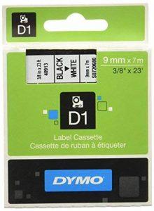 Dymo D1 Étiquettes Standard 9 mm x 7 m - Noir sur Blanc de la marque DYMO image 0 produit