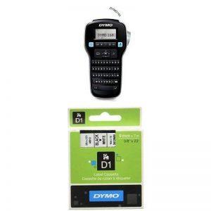 Dymo LabelManager 160 Étiqueteuse Portable Clavier AZERTY + Dymo D1 Étiquettes Standard 9 mm x 7 m - Noir sur Blanc de la marque DYMO image 0 produit